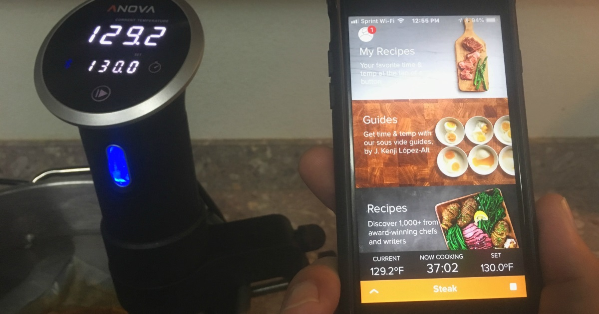 get perfectly cooked meat and veggies – Anova sous vide cooker with app