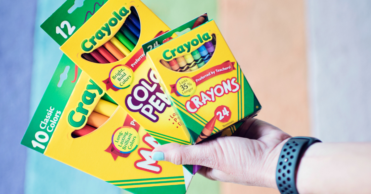 back to school deals at staples, target, and walmart - Crayola products
