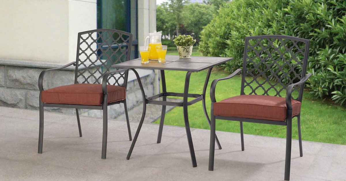 Delightful Mainstays 3 Piece Bistro Set Only $99 Shipped + More Patio Clearance |  Hip2Save