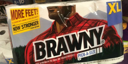 Staples: Brawny XL Paper Towels 12-Pack Only $7.49 (Just 62¢ Per Roll)