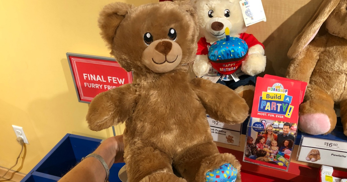 d43f29c43b2 Build-A-Bear Count Your Candles Program  Pay Your Age for Birthday Bear  During Birthday Month - Hip2Save