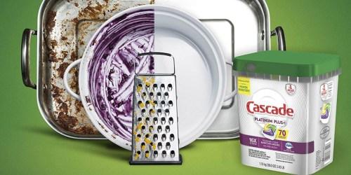 Cascade Platinum Plus 70-Count Actionpacs Just $13.99 Shipped on Amazon