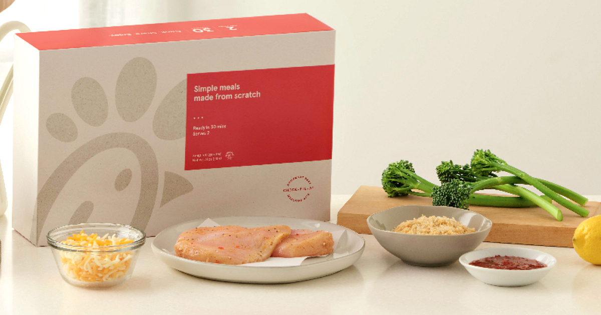 Chick-fil-a Mealtime Kit Boxes – Sample ingredients meal kit