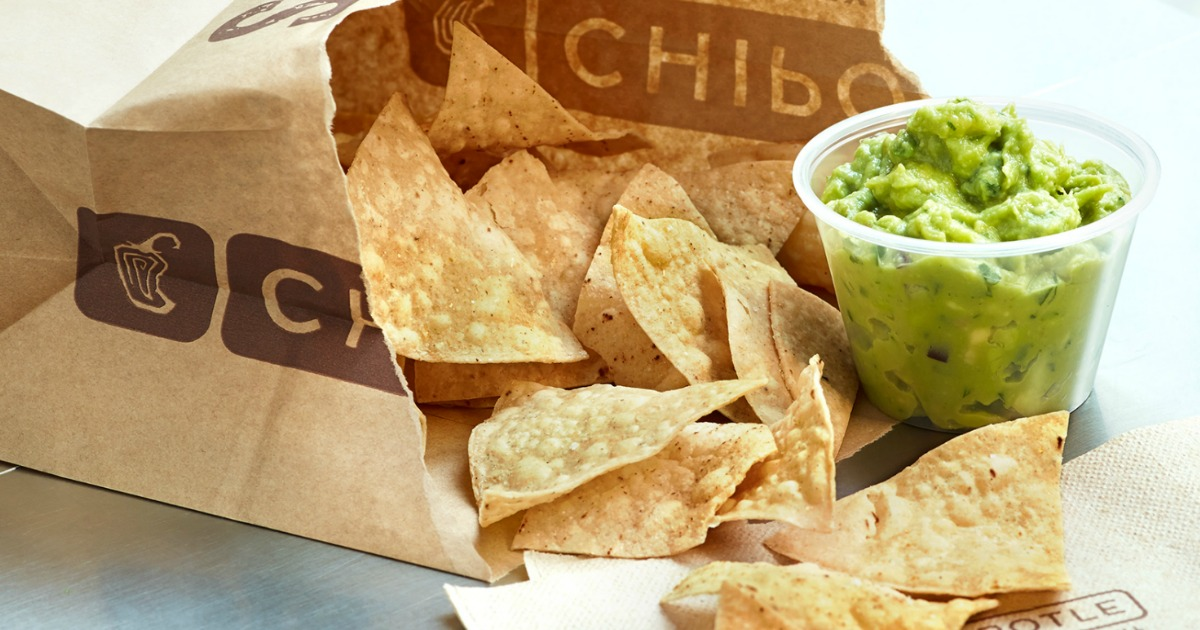Chipotle Deal gets you this free chips & guac (pictured)