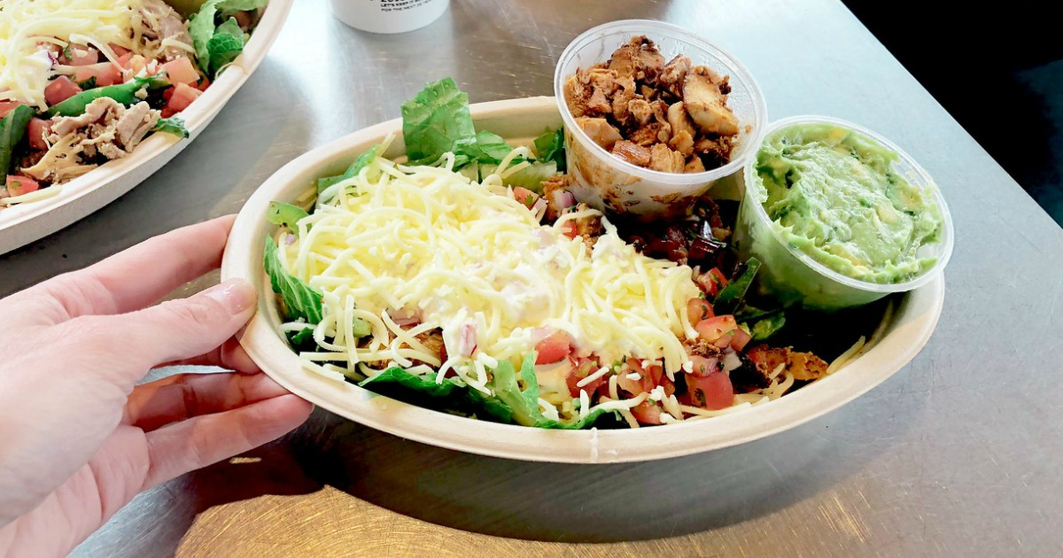 Chipotle bowl of food