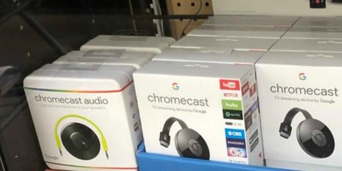 Google Chromecast as Low as $25 & More