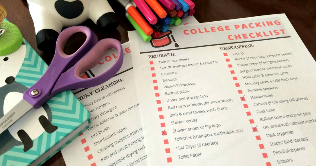 College Packing List Hip2Save