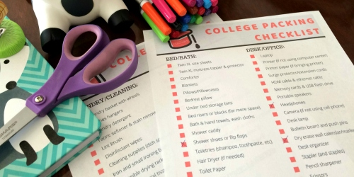 The Ultimate Dorm Checklist for College Students [Free Printable]