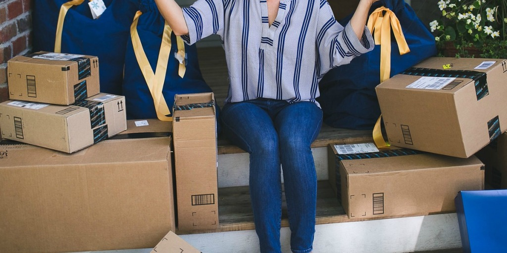 money saving moving tips — using amazon boxes for transporting items