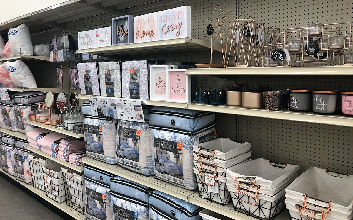 back-to-school college dorm shopping with big lots — bedding set and dorm room decor coordinates