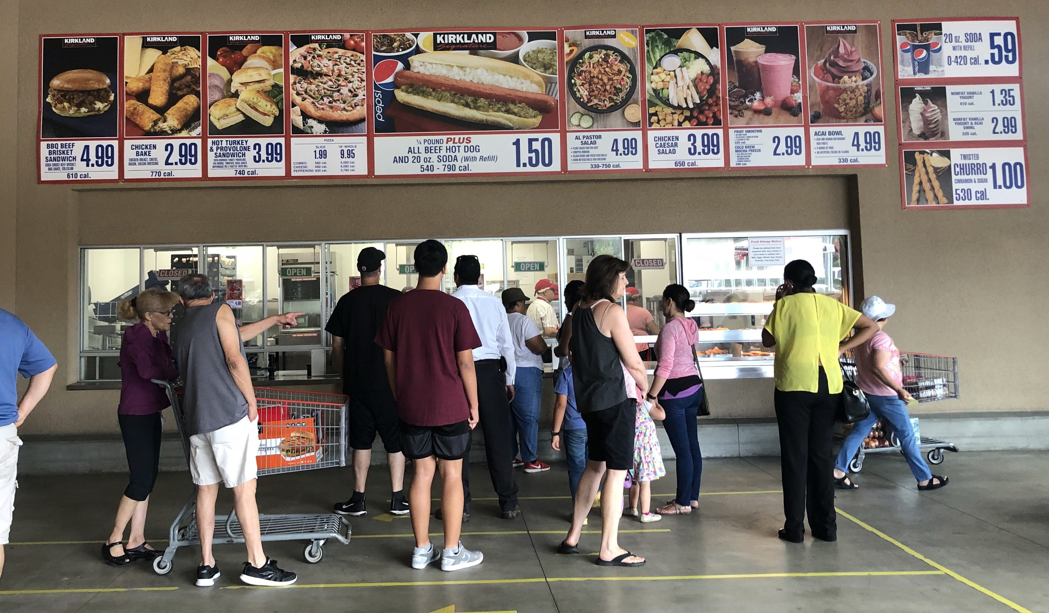 Costco pulls the polish hot dog from their menu of their food court like this one