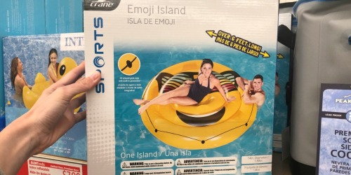 Emoji Island Pool Float Only $7.99 at ALDI (Over 6 Feet Long)