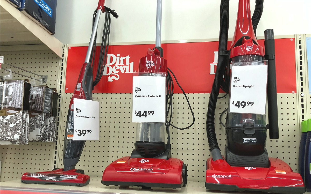 back-to-school college dorm shopping with big lots — small dirt devil vacuum cleaners