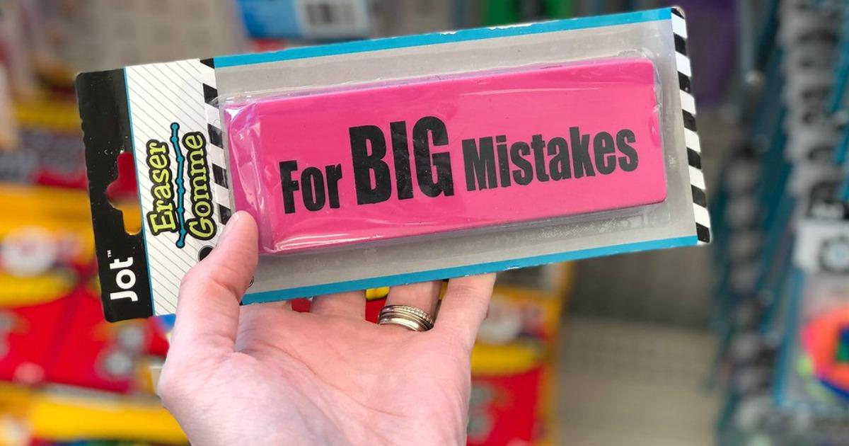 big eraser at Dollar Tree
