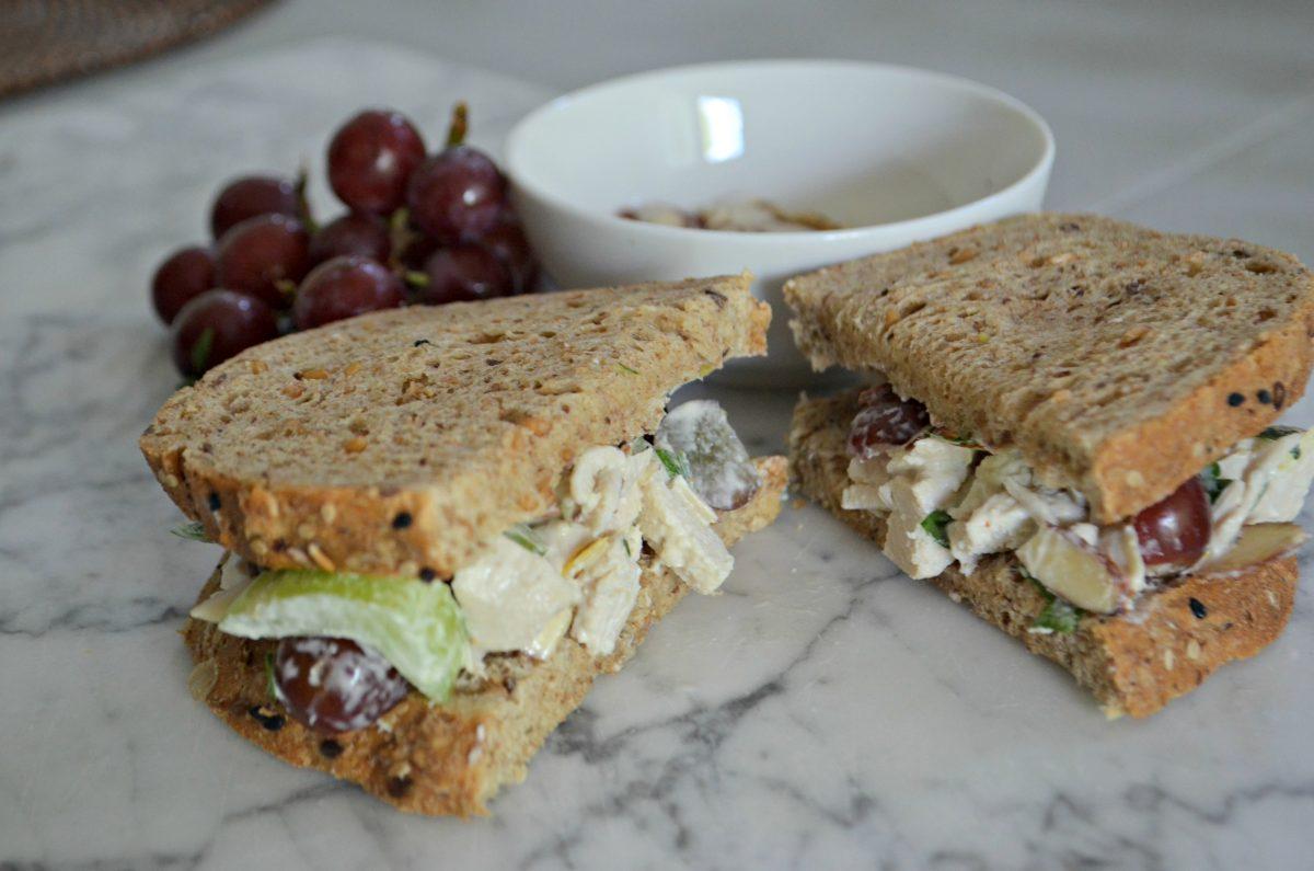 Napa Almond Chicken Salad Panera Copycat Recipe – on bread as a sandwich