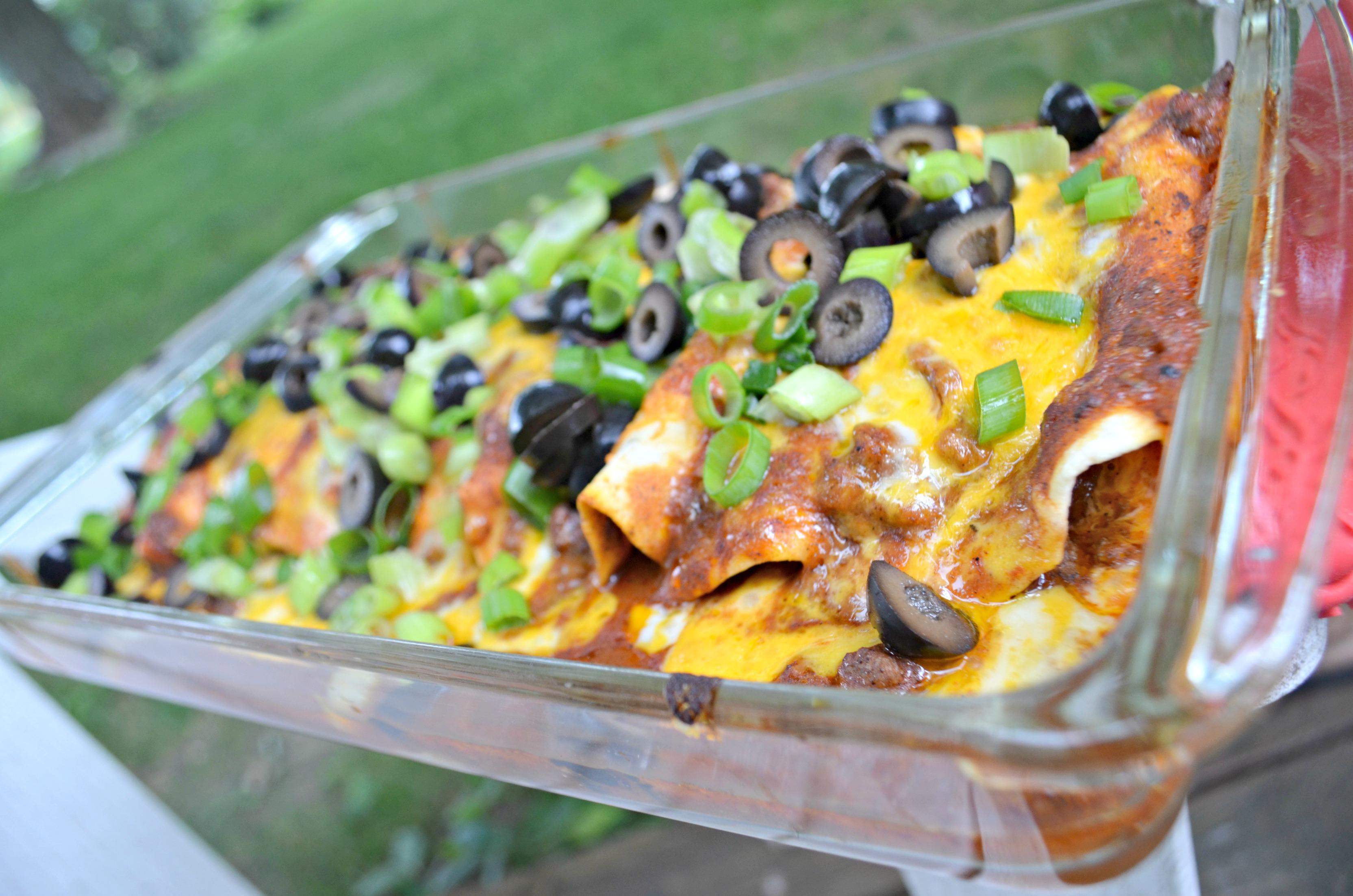 FREE Printable 5 Day Aldi Meal Plan – red enchiladas
