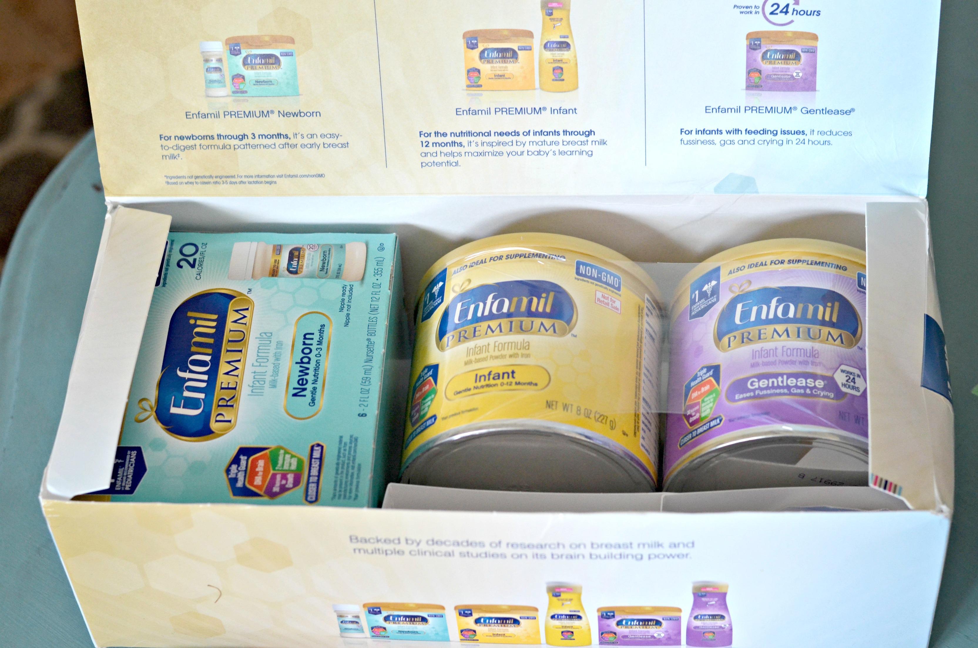 free enfamil baby box - get free enfamil gifts like these Enfamil samples