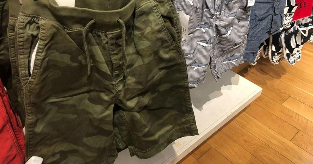 gap boys cargo shorts