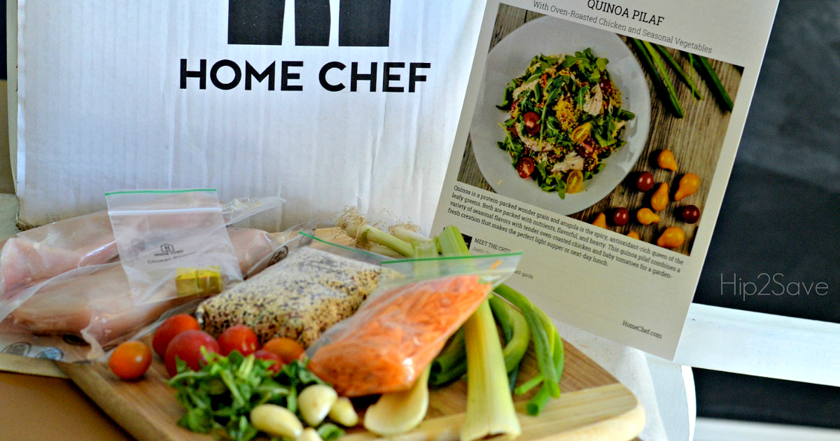 Home Chef Deal - ingredients in front of the box