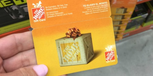 $110 Home Depot eGift Card Just $100