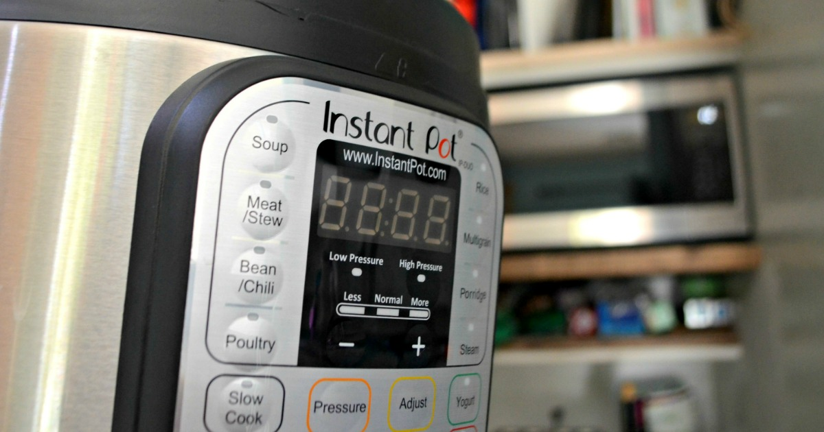 instant pot tips, hacks, and recipes – side view of an Instant Pot
