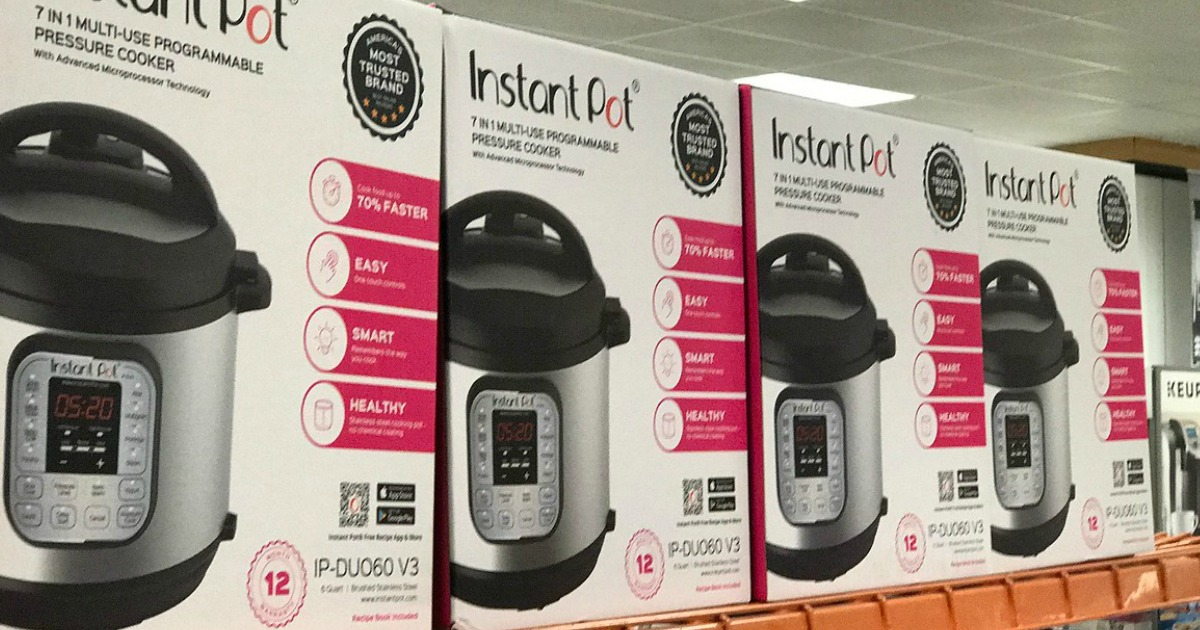 Instant pot boxes in a row at Kohl's