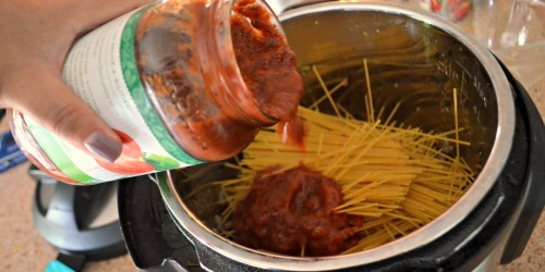 Instant Pot Spaghetti with Meat Sauce (One Pot Meal Idea)