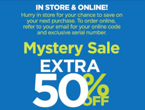 jcpenney mystery sale up to 50 off hip2save