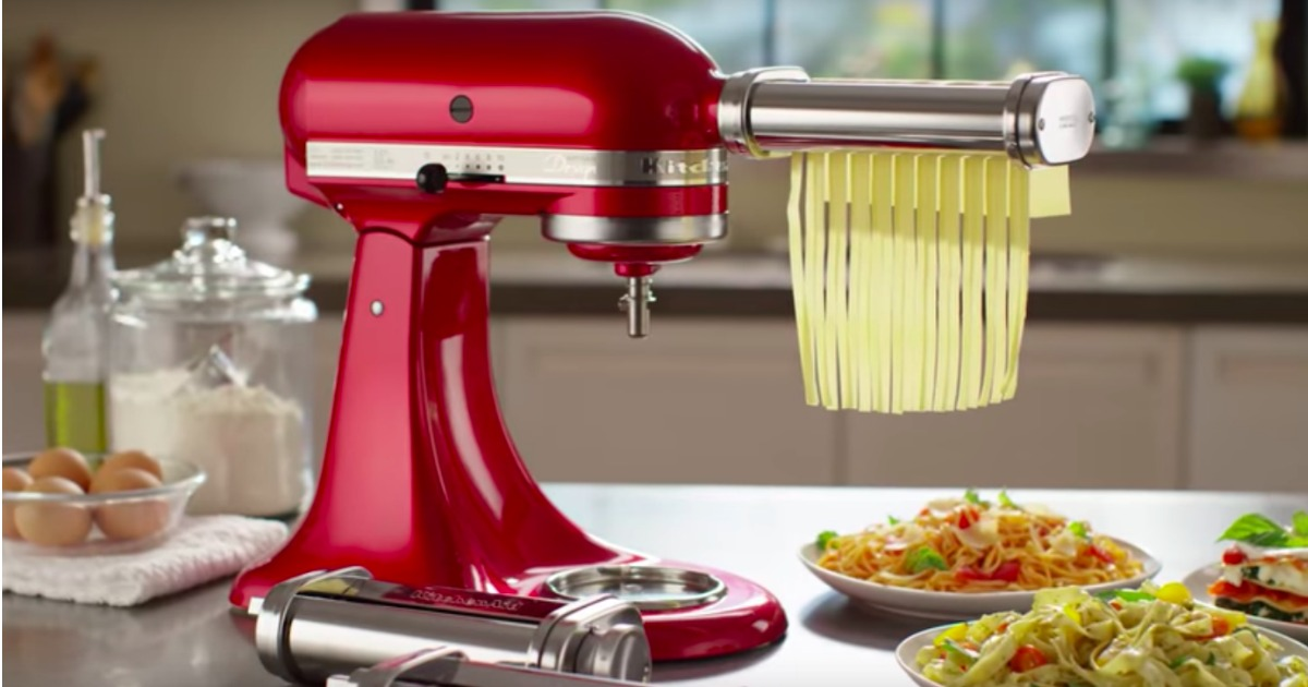Kitchenaid Pasta Cutter And Fresh Prep Attachment Bundle Only 99 99 Shipped Regularly 250