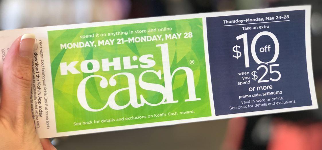 Kohl's Cash close-up