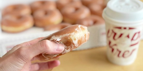 Free Krispy Kreme Dozen Glazed Doughnuts w/ Dozen Purchase
