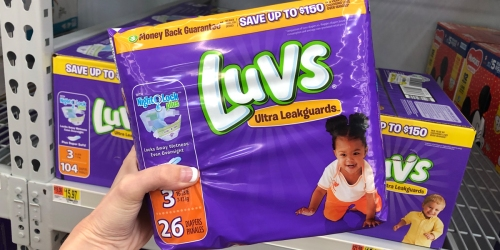 Luvs Diapers Jumbo Packs Only $4.99 Each Shipped at Target.com