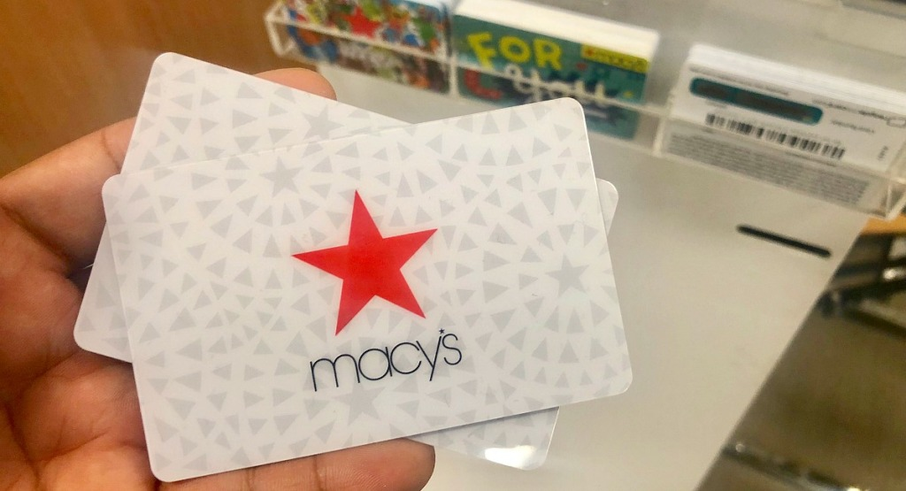 macy's shopping tips — macy's gift cards in hand