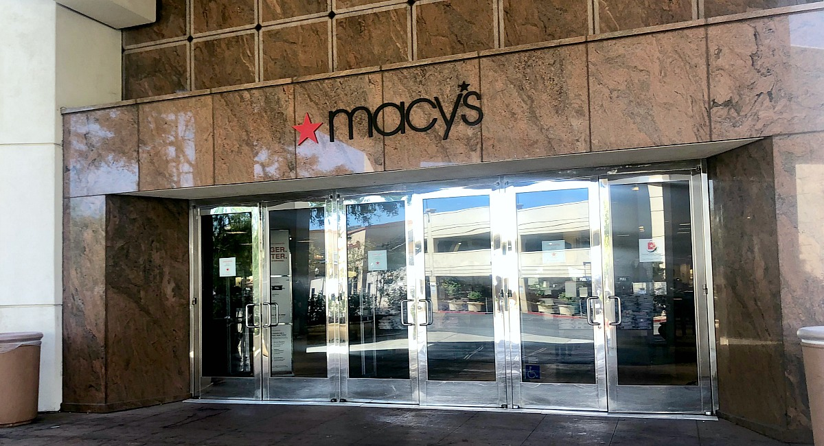 macy's shopping tips to save you money — front doors of a macy's store