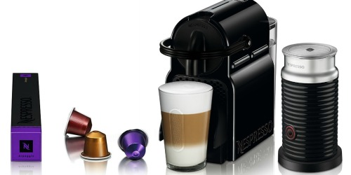 Nespresso Inissia Espresso Maker & Frother Only $99.99 Shipped (Regularly $250)