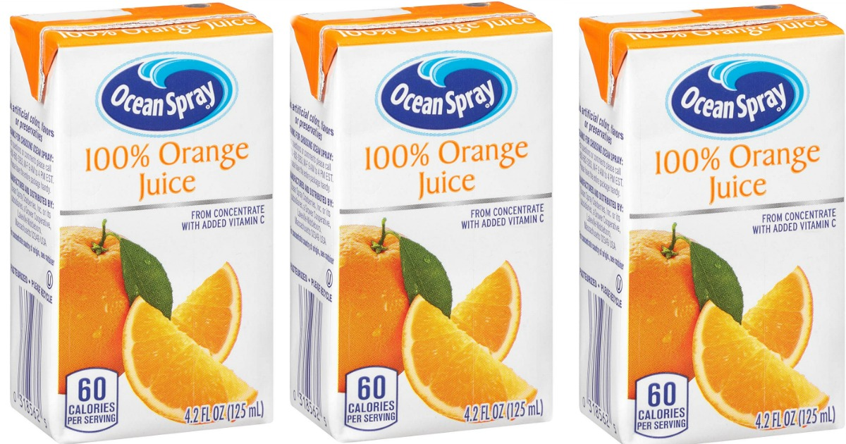 Amazon: Ocean Spray Orange Juice Boxes 40-Pack Only $9.85 Shipped (Just 25¢ Per Juice)
