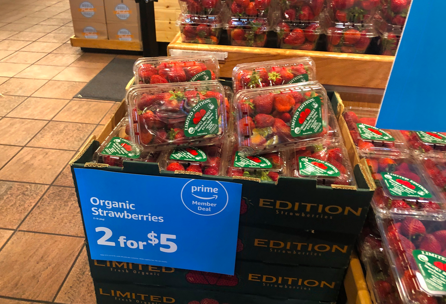 money-saving hacks at Whole Foods Market – strawberries in clam shell cases