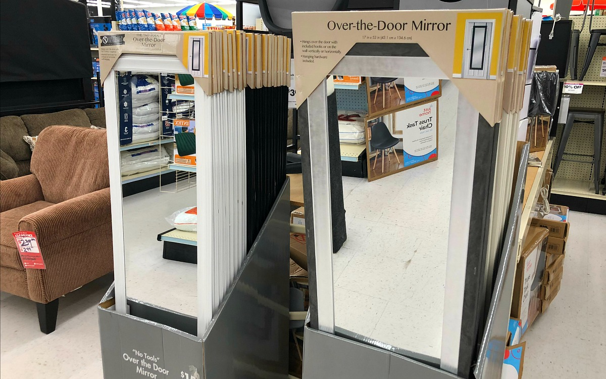 back-to-school college dorm shopping with big lots — over the door full length mirrors