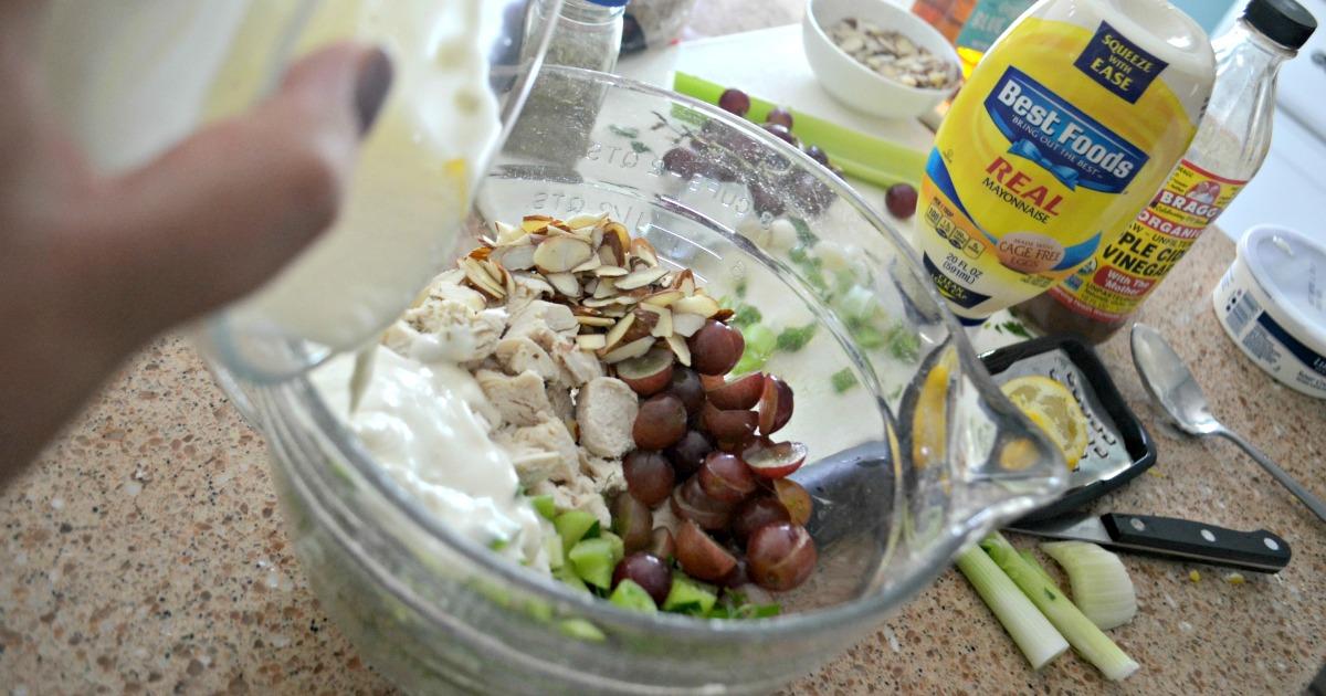Napa Almond Chicken Salad Panera Copycat Recipe – Combine ingredients in a bowl