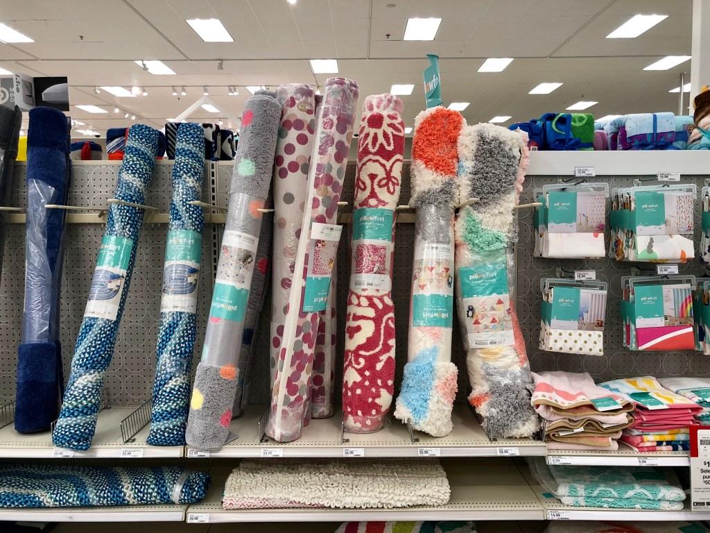 display of rugs at Target