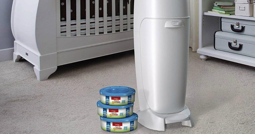 diaper genie and refills in nursery