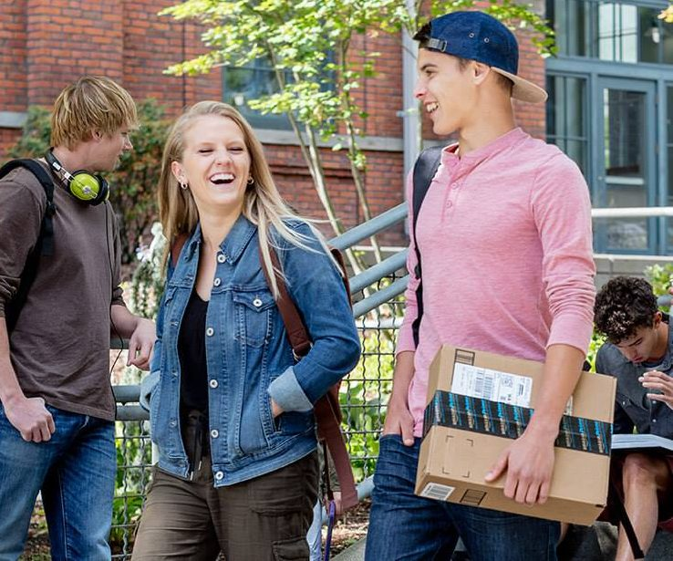 college student amazon prime – college students walking and laughing
