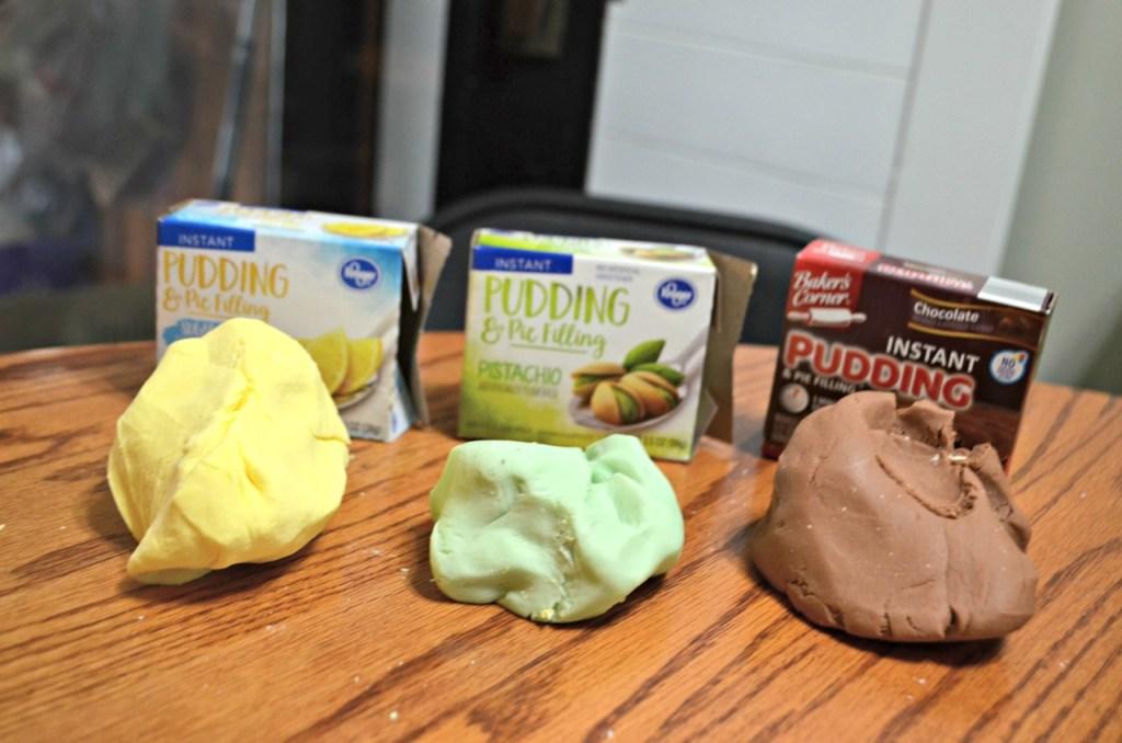 DIY play dough Pudding Slime