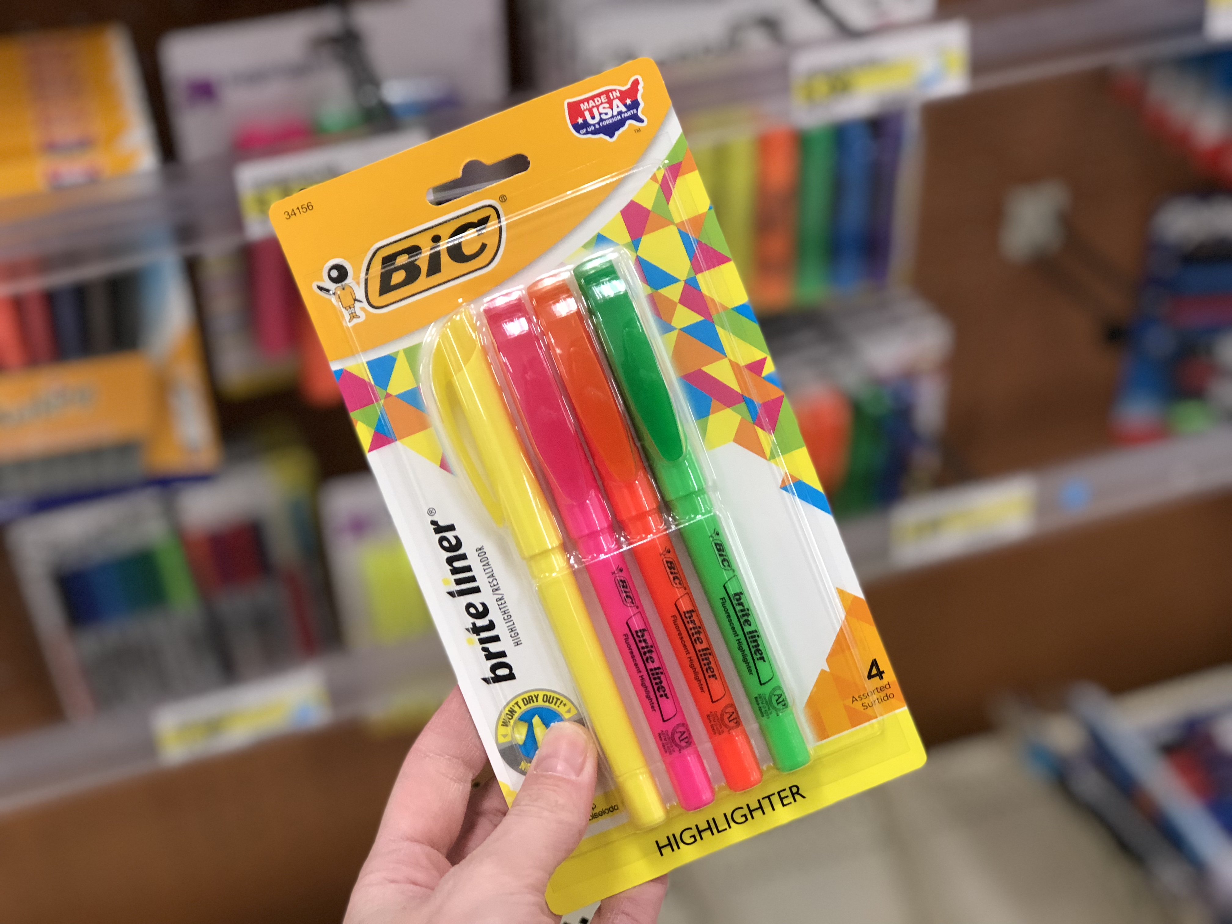 Target offers teachers 15% discount off school supplies – like these Bic highlighters