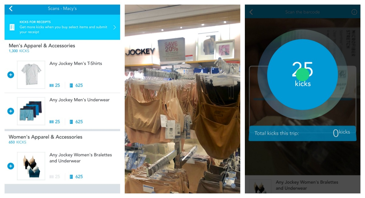 macy's shopping tips to save you money — shopkick app scanning for kicks at macy's