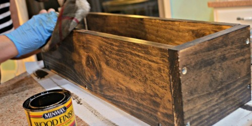 DIY: Build this Rustic Farmhouse Wood Box Centerpiece for Under $11!