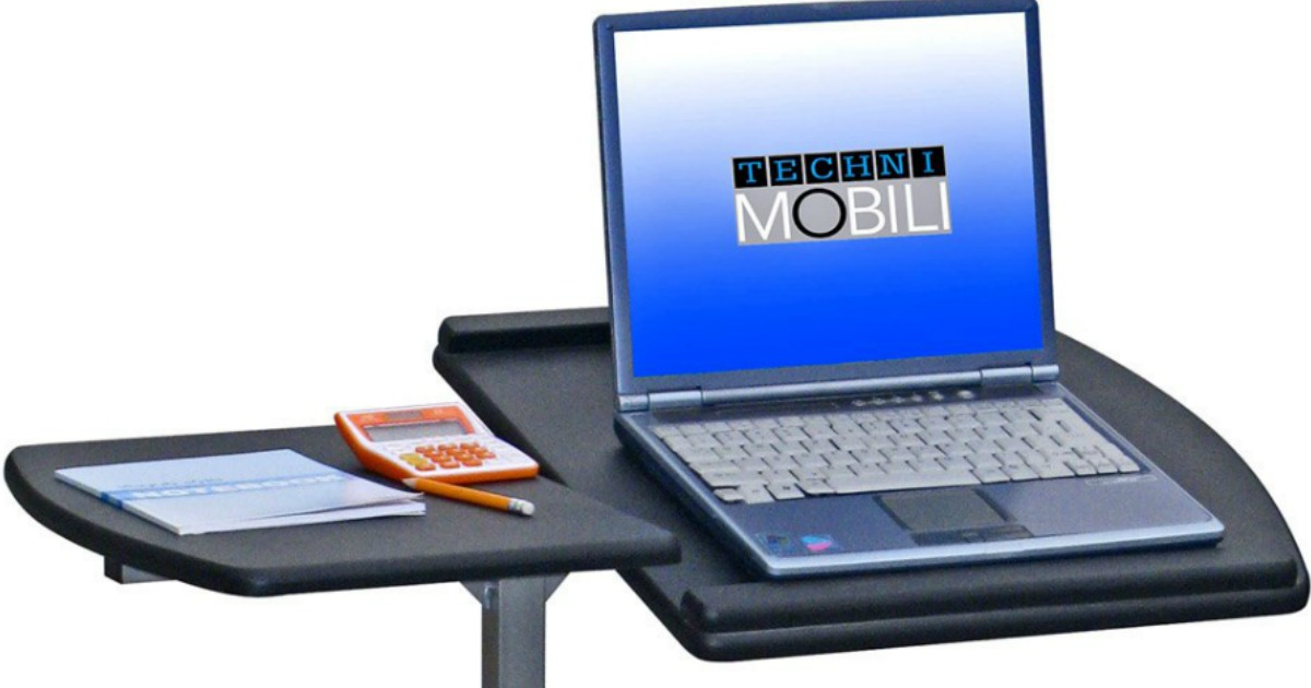 Walmart Com Techni Mobili Deluxe Rolling Laptop Stand As