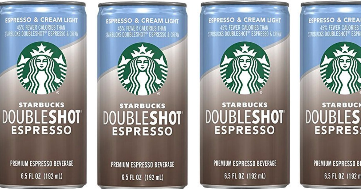 4 cans of Starbucks doubleshot espresso