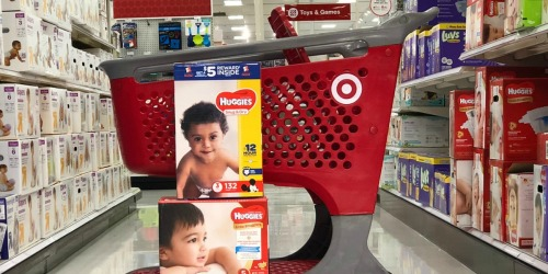 $6 Worth Of New Huggies & Pull-Ups Coupons = Diaper Super Packs Only $18.15 Each at Target