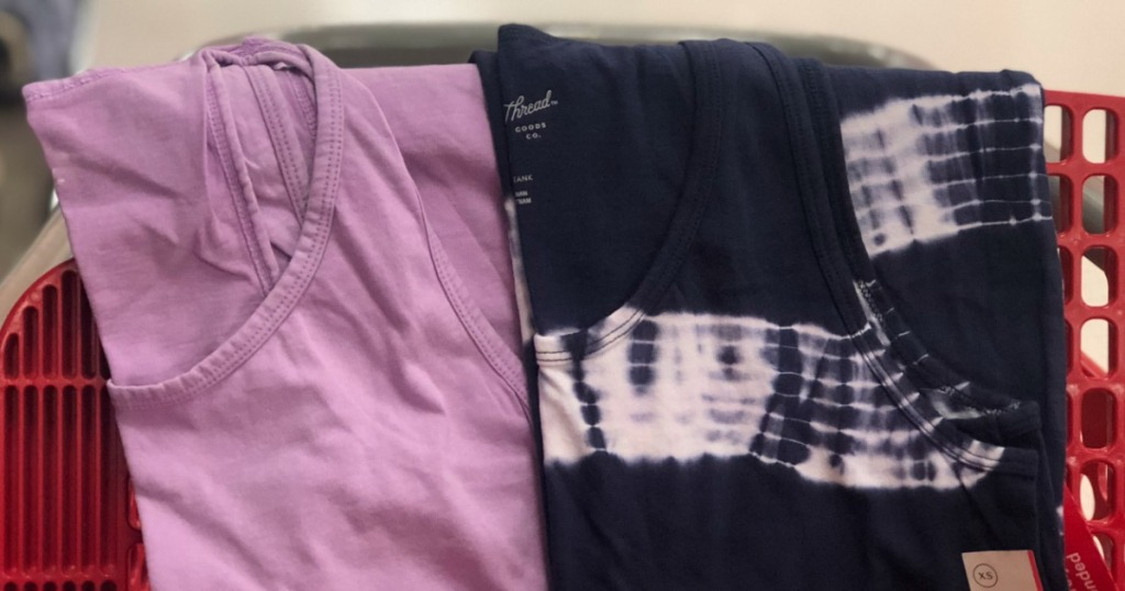 two tank tops in cart